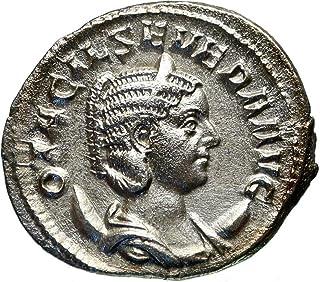 1000 IT Otacilia Severa wife of Philip I Arab AR Ancient coin Good