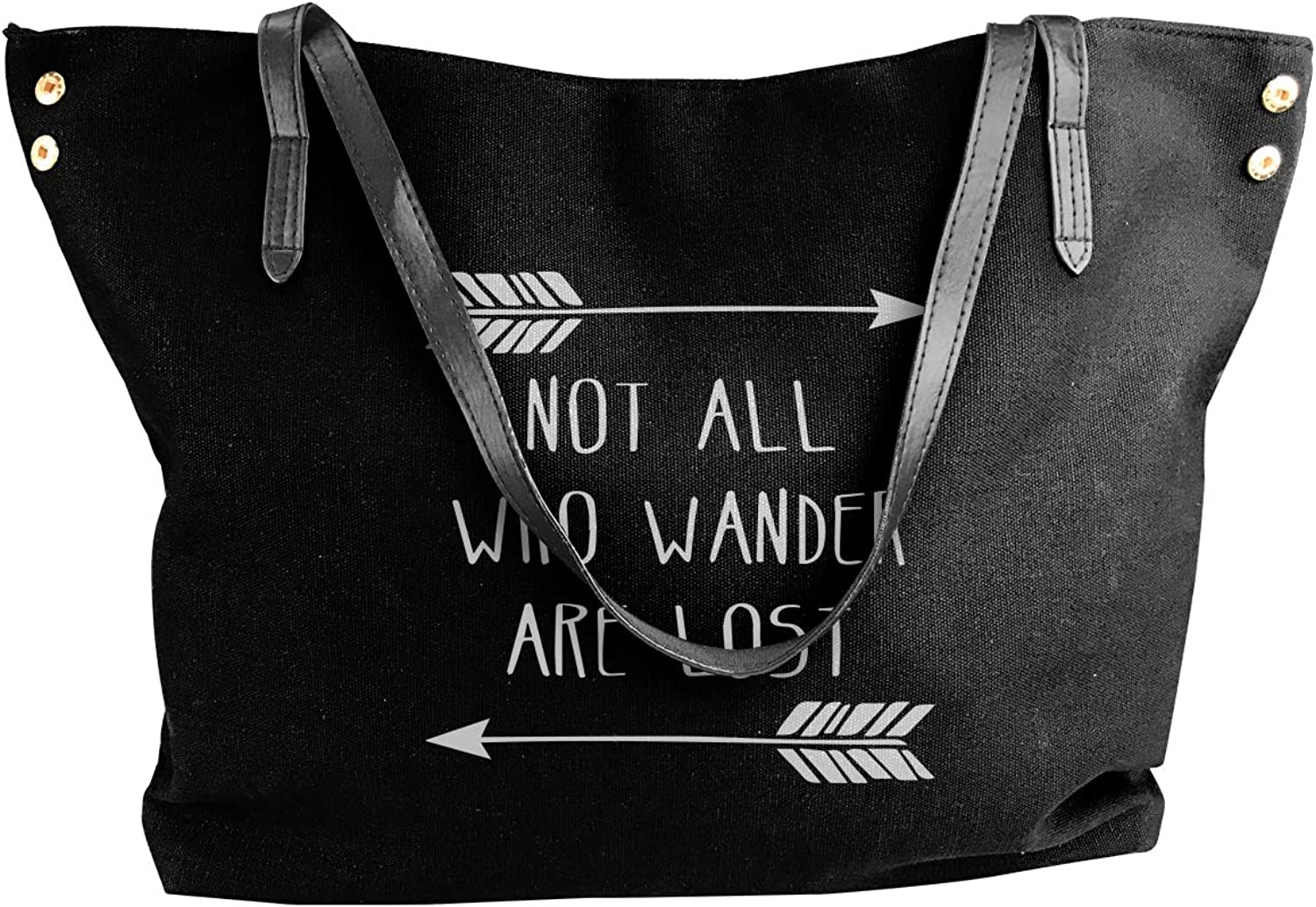 Not All Who Wander Are Lost Women'S Leisure Canvas Sling Bag For Travel Work Bag