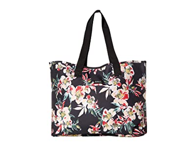 Roxy Wildflower Tote Bag (Anthracite Wonder Garden) Handbags