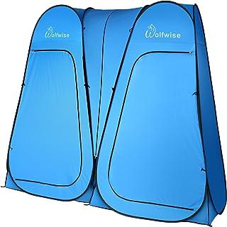 WolfWise Tienda de Campaña Tent Abrir Cerrar Automáticamente Pop Up Portable Sirve Para Camping Playa Bosques Zonas de montaña Ducha Aseo Carpas Vestidor Azul