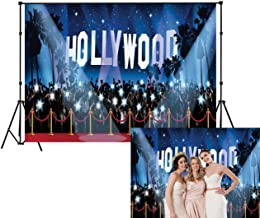 LB Hollywood Backdrop Red Carpet Photo Backdrop for Photoshoot 9x6ft Movie Night Awards Ceremony Backgound for Kids Adult Birthday Party Banner Portrait Photo Booth Backdrop