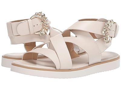 MICHAEL Michael Kors Frieda Flat Sandal (Light Cream Vachetta) Women