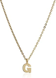 1928 Jewelry Gold-Tone 7mm Initial Pendant Necklace, 20