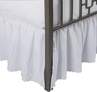 Eyelet Ruffled Bed Skirt w/Split Corners, 21