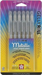 Sakura Metallic Gelly Roll Pens, 6 Pack, Silver