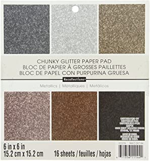 DCWV Specialty Stack-6 x 6-Single-Sided-Glitter Metallic-Glitter-18 Seat PS-006-00099