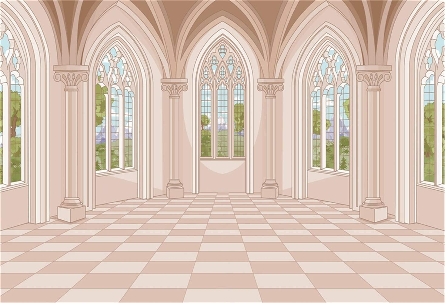 Laeacco 8x6.5ft Cartoon Classical Max 55% Ranking TOP4 OFF Palace Interior Vinyl European