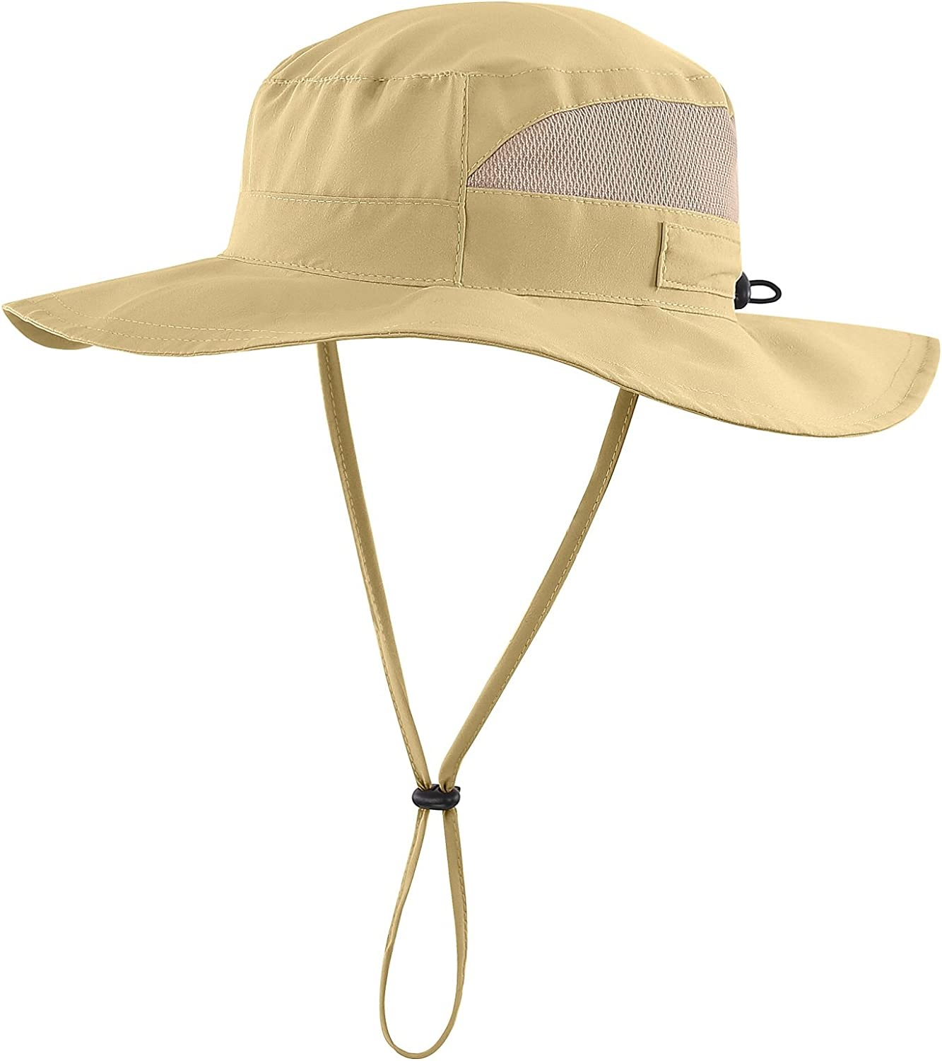 Decentron Womens Summer Mesh Boonie Sun Hat Wide Brim UV Protection Fishing Hat