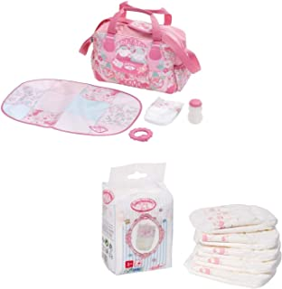 Zapf Creation Baby Annabell Changing Bag & 5 Pack Nappies Playset Doll Bundle