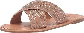 Women's Ally Deco Stud Criss Cross Slide Sandal