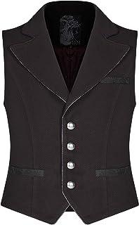 Punk Rave Mens Gothic Steampunk Waistcoat Vest Red Black Vintage Victorian Regency Vampire