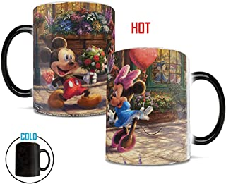 Morphing Mugs Disney - Mickey and Minnie Mouse Sweetheart Cafe Thomas Kinkade Heat Reveal Ceramic Coffee Mug - 11 Ounces
