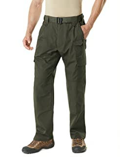 CQR Men's Tactical Pants Lightweight EDC Assault Cargo/Work Rip-Stop Tactical Utility/Cargo Classic Uniform Shorts