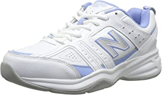 New Balance Women's WX401V2 Training Shoe, White/Purple, 6.5 B US
