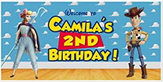 Toy Story 4 Little Bo Peep and Woody Birthday Personalized Banner
