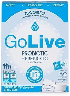 GoLive 益生菌和益生元补充剂混合,无味,28件