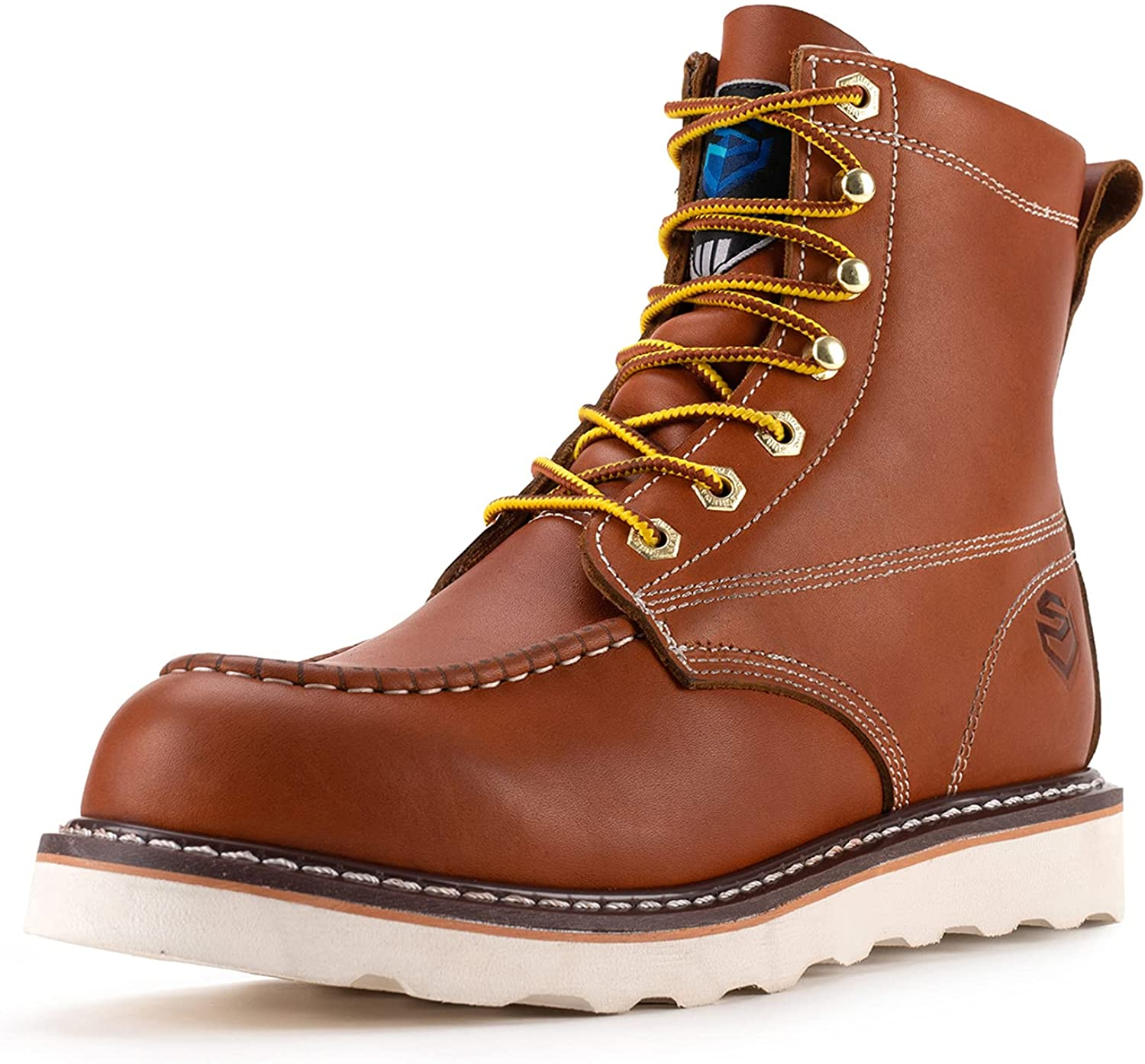 SUREWAY Work Boots for Men Beauty products Year-end annual account Soft Wedge Cl Sole Toe Lightweight 6