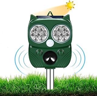 AILEDA Repellente Gatti, Repellente Ultrasuoni Energia Solare IP66 Impermeabile a Frequenza Regolabile per Allontanare Ani...