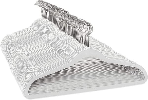 Casafield 100 Ivory Velvet Non Slip Suit Hangers Space Saving Chrome Swivel Hook For Dress Clothes Coats Pants Shirts Skirts