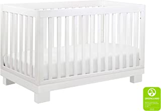 Babyletto Modo 3-in-1 Convertible Crib with Toddler Bed Conversion Kit, White