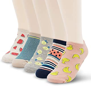 1//5//10 Pairs Unisex Funny 3D Printed Novelty Socks Low Cut Cotton Ankle Socks