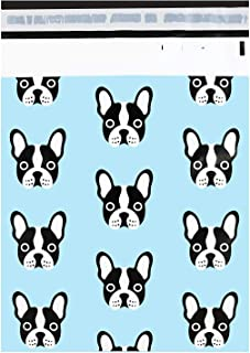 "Pack It Chic - 10"" X 13"" (100 Pack) Frenchie Dog Poly Mailer Envelope Plastic Custom Mailing & Shipping Bags - Self Seal (More Designs Available)"