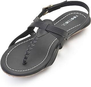Footsoul Alexa Women's Flats (Black) (FSL-307)