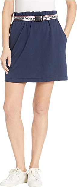 Solid Buckle Track Skirt