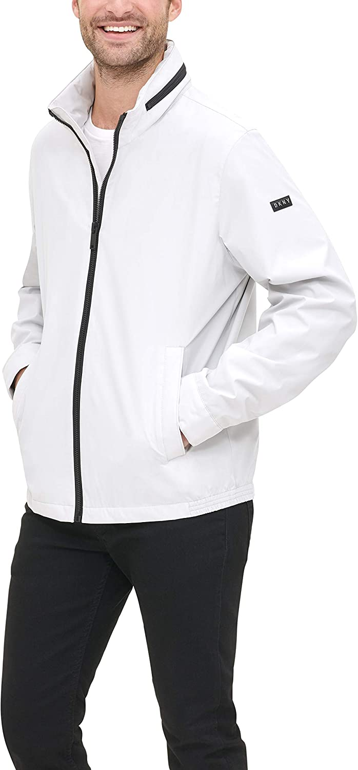 free shipping DKNY Men's All Man's Lightweight Resistant Zip Water New products world's highest quality popular With Jacket