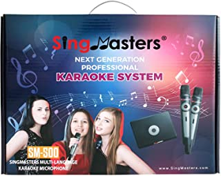 SingMasters Magic Sing English Karaoke Player,13,000+ English Songs,Dual Wireless Microphones,YouTube Compatible,HDMI,Song...