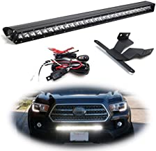 iJDMTOY Lower Grille Mount 30-Inch LED Light Bar Kit For 2016-up Toyota Tacoma, Includes (1) 150W High Power CREE LED Lightbar, Lower Bumper Opening Mounting Brackets & On/Off Switch Wiring Kit