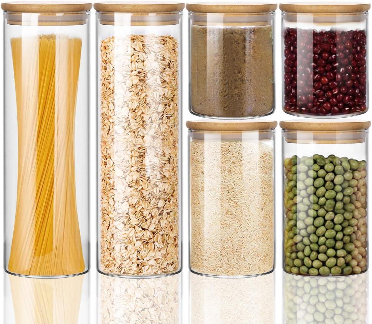 Wennyn Glass Jars for Airtight mart Canister Nashville-Davidson Mall Storage Food