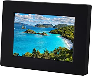 KWANWA 5inch Photo Frame with 15s Better Quality Voice Message Recording Funtion, Black