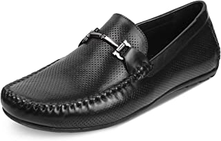tresmode Mens Casual Leather Casual Driving Loafers