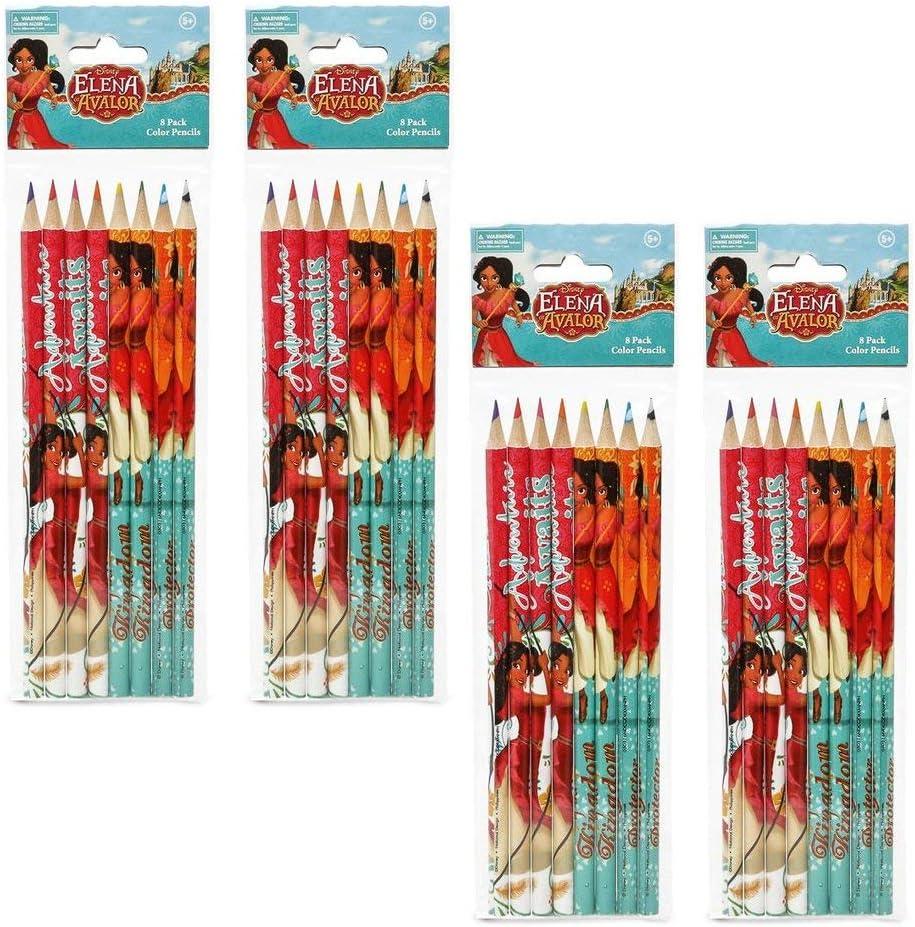 Disney Elena Japan Maker New of Avalor Colored depot 4-Packs 8-Count Pencils