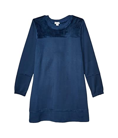 Splendid Littles Super Soft Velour Dress (Big Kids) (Phantom Ink) Girl