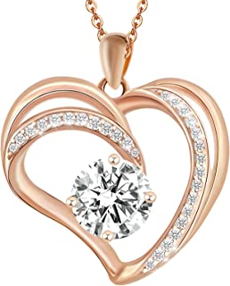 Niasay Forever Love Heart Necklaces for Women Birthday...