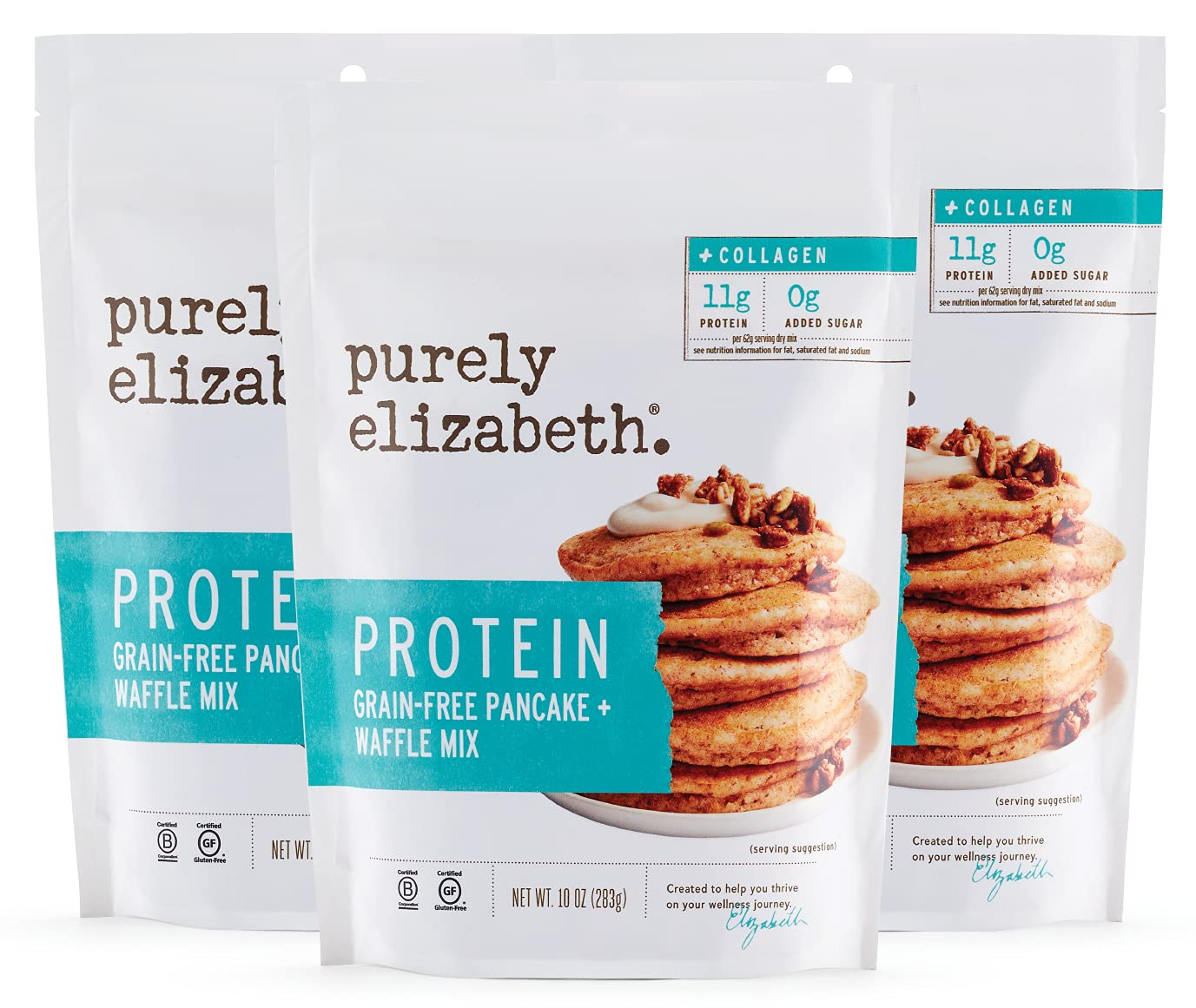 Purely Elizabeth Grain-Free El Paso Mall Collagen Pancake Max 72% OFF and Mix Waffle Gl