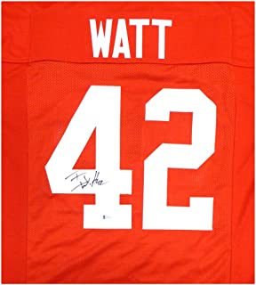 Wisconsin Badgers TJ T.J. Watt Autographed Signed Red Jersey - Beckett Authentic