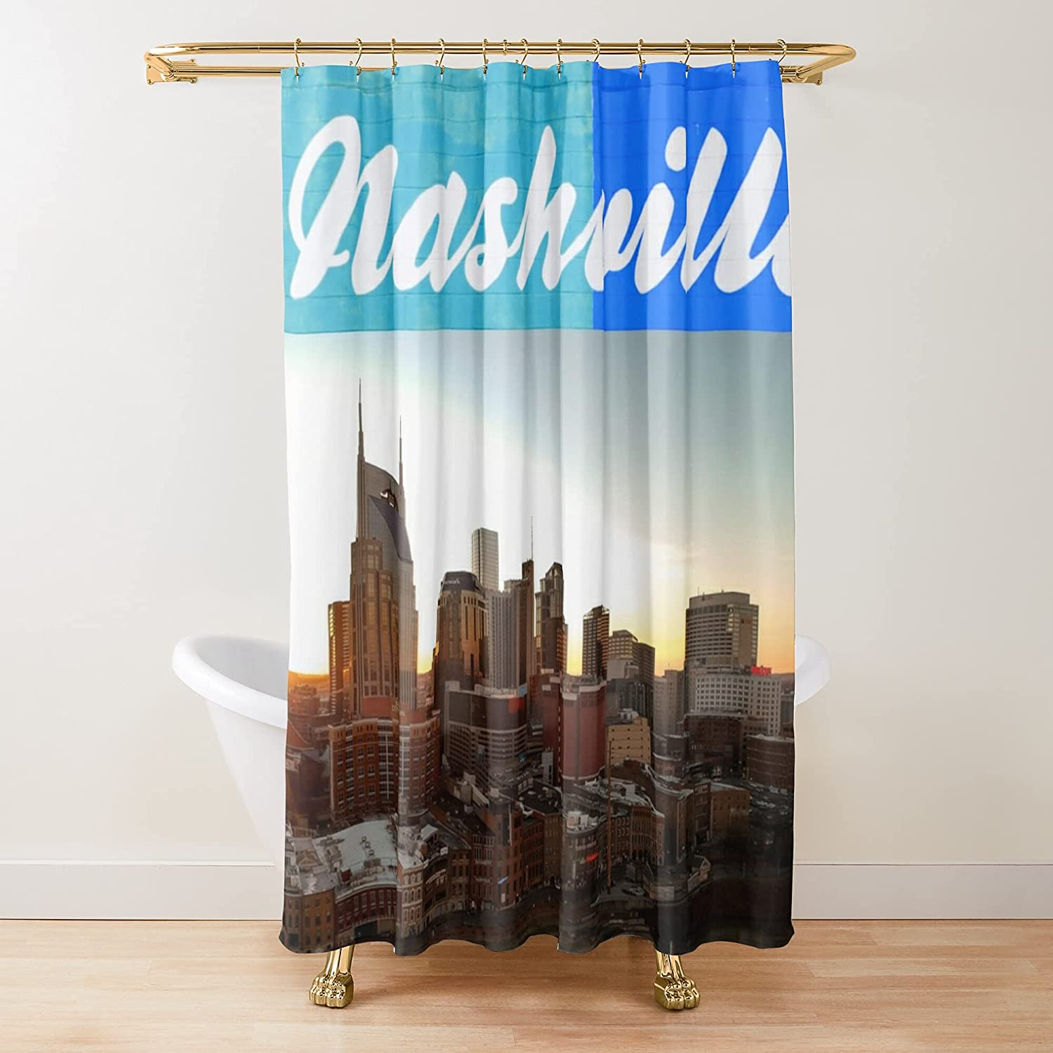 Nashville Tennessee City Scape Shower Fabric Curtains sold out San Diego Mall Beautiful