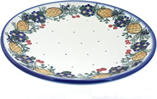 Polish Pottery Pinecone Dinner Plate