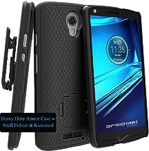 Motorola DROID TURBO 2 Case, Verizon XT1585 Case, Black Swivel Slim Belt Clip Holster..