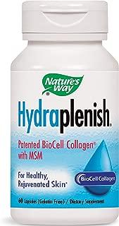 Nature's Way Hydraplenish Patented BioCell Collagen w/MSM, 60 Gelatin Free Capsules