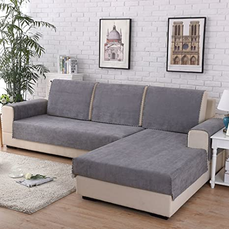 Amazon.com: Waterproof Sofa Cover For Pets Dog Sectional Couch Anti-slip Water Resistant Stain Resistant Multi-size Sofa Cover Slipcover Furniture Protector For Living Room-Sold By Piece-grey 110x240cm(43x94inch): Home & Kitchen