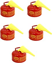 Eagle UI-25-FS Type I Metal Safety Can with F-15 Funnel, Flammables, 11-1/4 in Width x 10 in Depth, 2-1/2 Gallon Capacity, Red