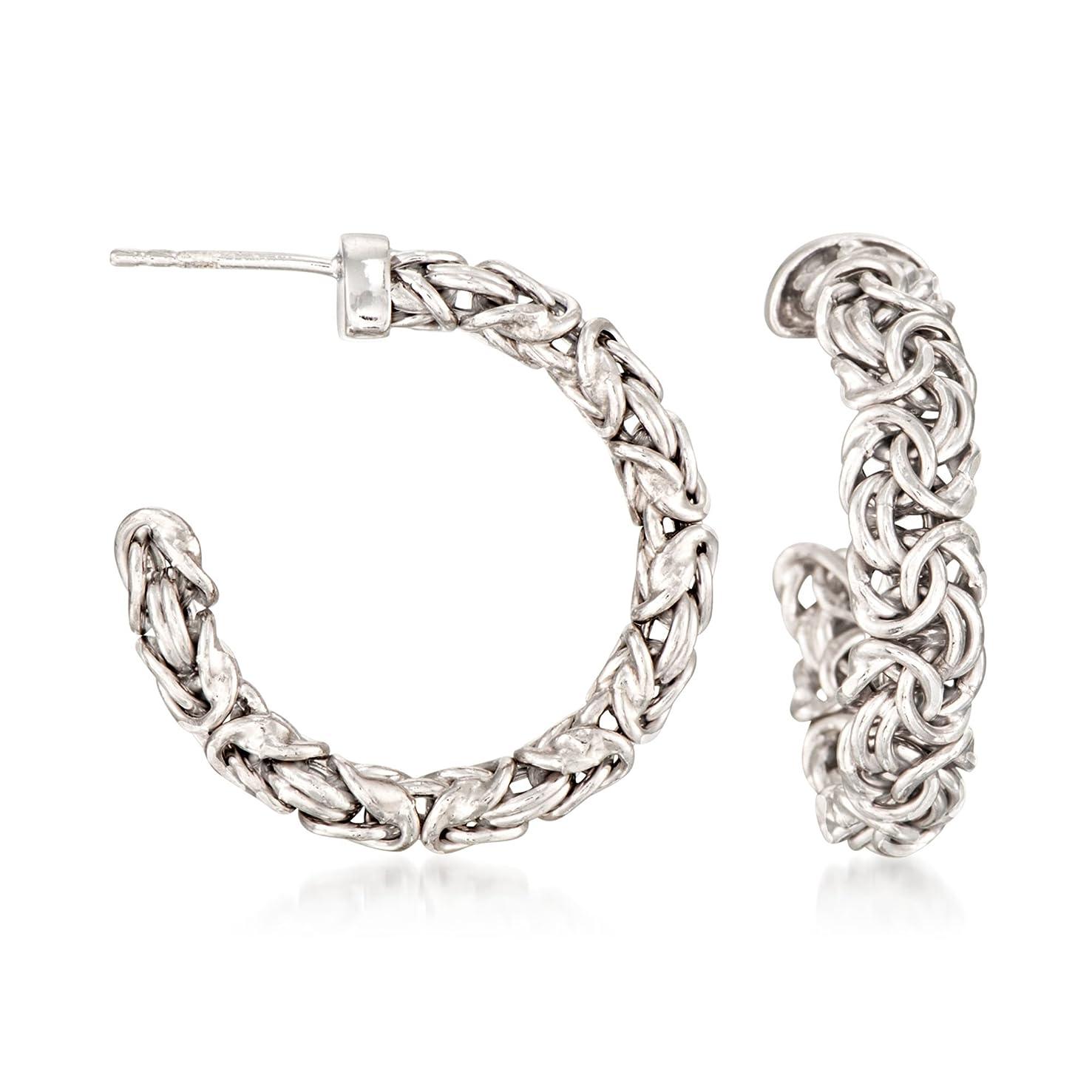 Ross-Simons Sterling Silver Byzantine Hoop Earrings