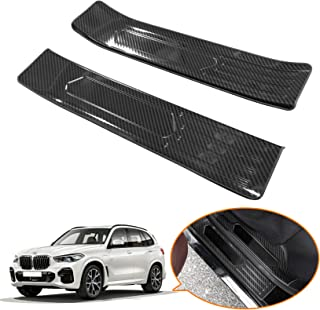 Toryea 4-Door Outer Door Sill Protectors Scuff Plate Guard Cover Trim Fit BMW X1 2016 2017 2018 2019