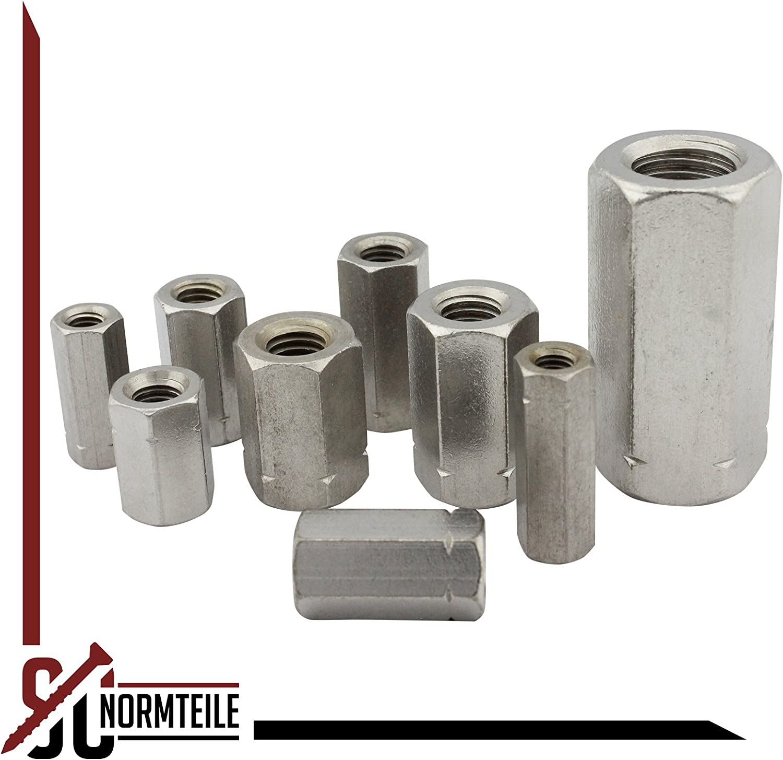 Rundmuffen Edelstahl A2 - Verbindungsmuffen M8x50 2 St/ück Abstandshalter - D/´s Items/® Gewindemuffen in runder Ausf/ührung V2A