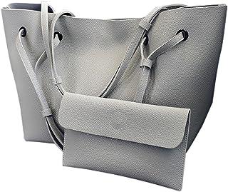 3d94a2962b1 Set de 2PCS Bolso de Hombro Mujer Bolsos Bandolera Grande de Piel Barato  para Niña por