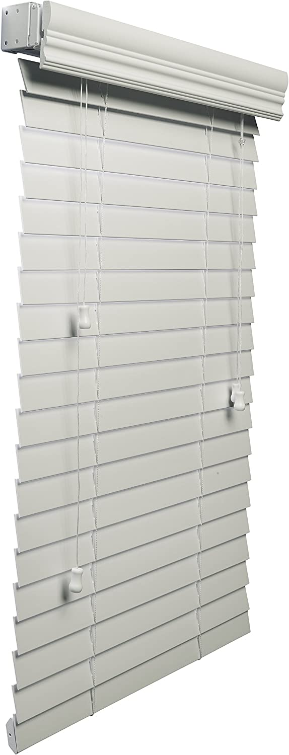 Lotus & Windoware 2-Inch Faux Wood Blind, 27 by 48-Inch, White